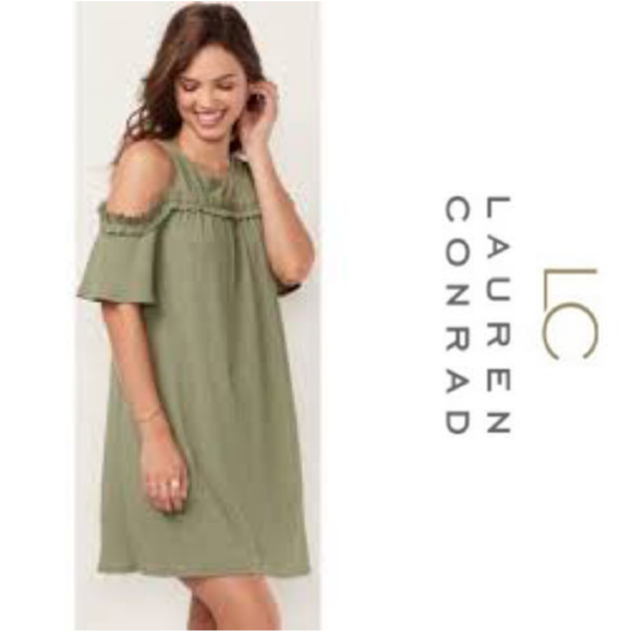 4944575a99dd7 LC Lauren Conrad Ruffle Cold-Shoulder Dress XL